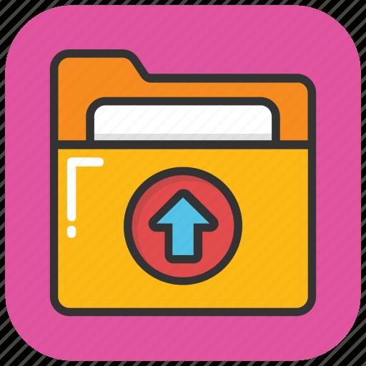 data transfer, data upload, folder, folder upload, folder with arrow icon