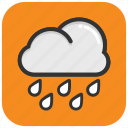 clouds, rain, raining, rainy climate, weather icon