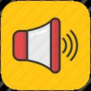 audio, loud, sound, speaker, volume