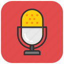 audio, mic, microphone, recording, retro icon