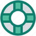 help, lifebelt, lifebuoy, lifesaver, protection, safety, support icon