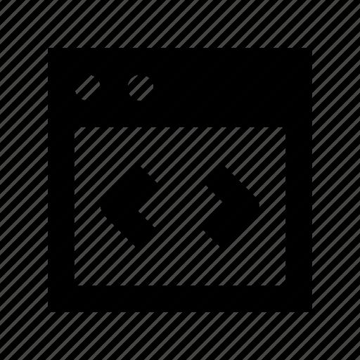 resize window, webpage, website, window size, window width icon