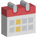 calendar, date, day, schedule, yearbook icon