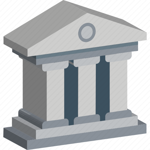 bank, building, college building, courthouse, elementary school, institute, school building icon