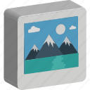 image, landscape, photo, photo frame, pic, picture icon