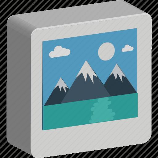 image, landscape, photo, photo frame, pic, picture icon