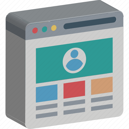 web content, web grid, web layout, webpage, website layout, website view, wireframe icon