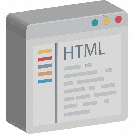 html, html coding, programming, source code, web development icon