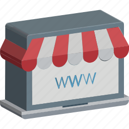 online ecommerce, online marketplace, online shopping, shopping site, shopping website icon
