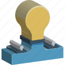 bulb, electric light, electricity, illumination, light, light bulb, luminaire icon