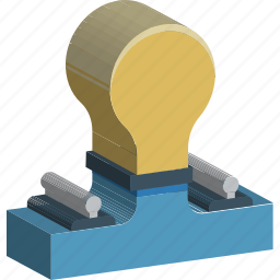 bulb, electric light, electricity, illumination, light, light bulb, luminaire icon
