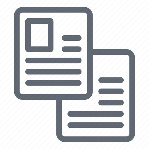 copy archive, copy files, files, office documents, two documents icon