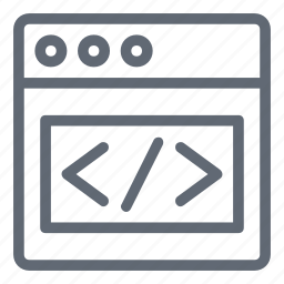 coding, programming code, web development, web page, web programming icon