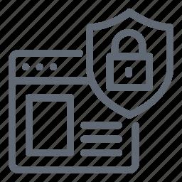 internet, password, shield, web security, website icon