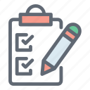 agenda, checklist, tasks, todo icon