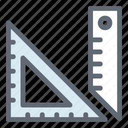 geometry, measure, rulertool icon