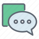 bubble, chat, communication, dialogue, message icon