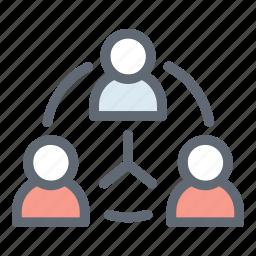 buisnessman, connection, team, teamwork, users icon