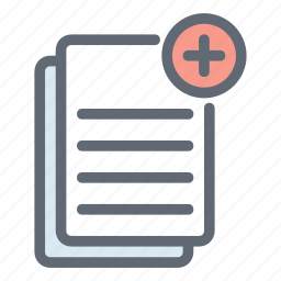 add, copy, documents, duplicate, files, papper icon