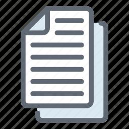 content, copy, documents, files, paper icon
