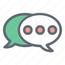 bubble, chat, communication, message icon