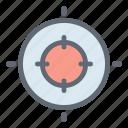 center, dart, filter, focus, target