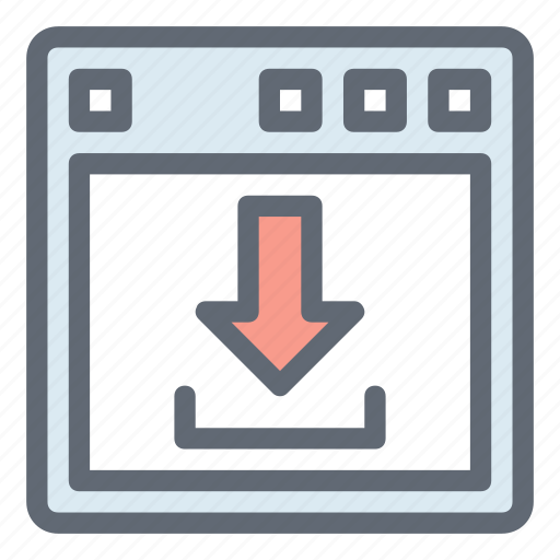 arrow, download, download page, interface, interface download icon