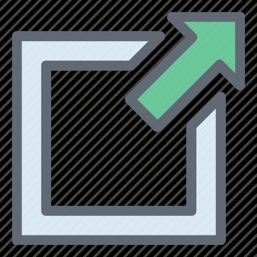 External link, multimedia option, redirect, up arrow, web link icon - Download on Iconfinder