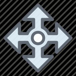 arrow spread, arrows, four arrows, move arrows, move selector icon