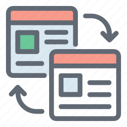 data sharing, downloading, uploading, webpage, website icon