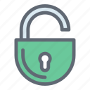 access, padlock, protection, security, unlock icon