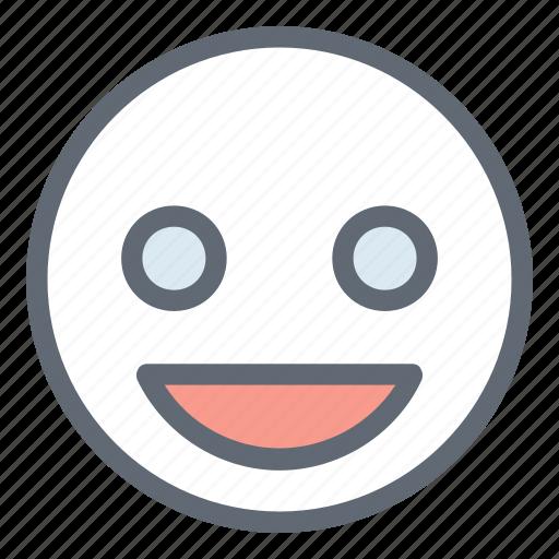 Emoticon, happy face, happy smiley, smiley, smiley face icon - Download on Iconfinder