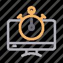 clock, countdown, monitor, screen, stopwatch
