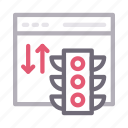 browser, download, traffic, upload, webpage