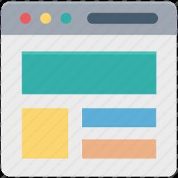 design template, web, web content, web page, web template icon