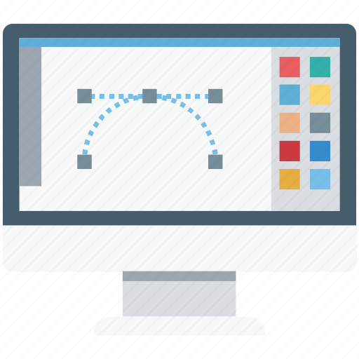 bezier, bezier tool, designing, graphic designing, lcd, pen icon