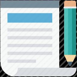paper, pencil, sheet, signature, writing icon