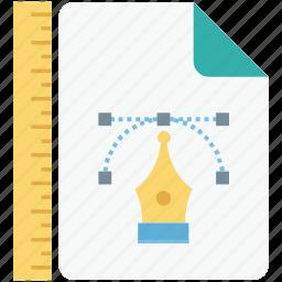 bazier, designing, designing file, file storage, pen tool icon