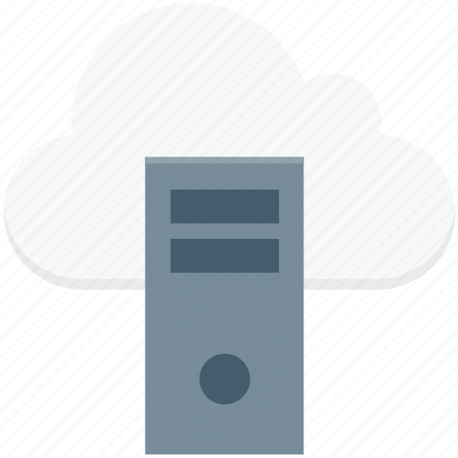 cloud computing, cloud server, desktop, server network, tower pc icon