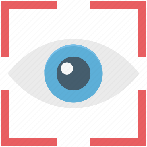 eye, focus, look, retina, view, vision icon