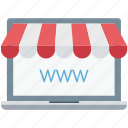 ecommerce, eshop, laptop, shop, www icon