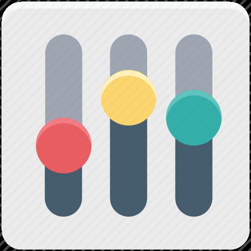 adjuster, controller, equalizer, sound controller, sound mixer icon