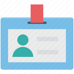 employee card, id card, identification, identity card, student card icon