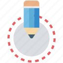 crayon, edit, lead pencil, pencil, writing icon