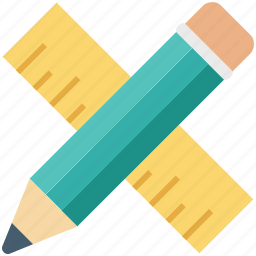 drafting tools, drawing tools, geometry tools, pencil, ruler icon