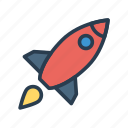 rocket, spaceship, startup, transport, travel icon