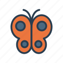 bug, buterfly, flower, fly, insect icon