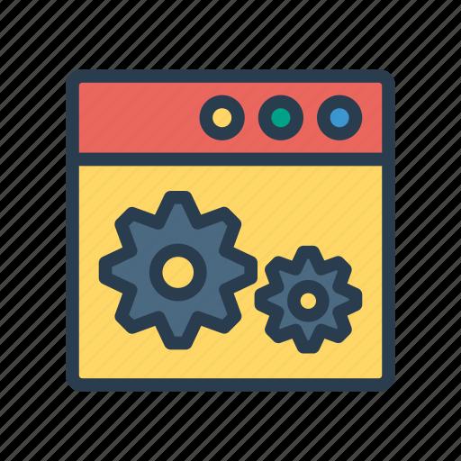 development, internet, setting, webpage, window icon
