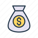 bag, dollar, finance, money, saving icon