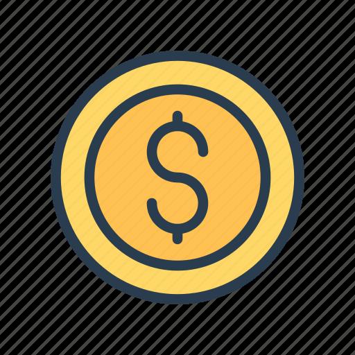 cash, coin, dollar, earning, money icon